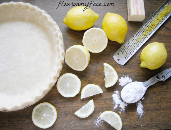 Lemon Sponge Pie, Vintage pie, recipes