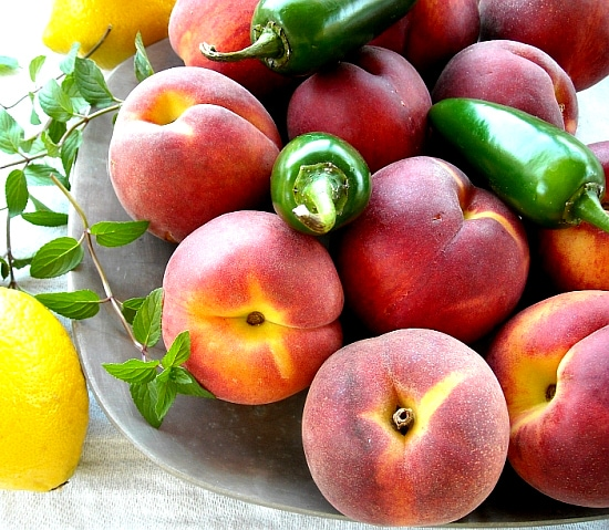 peach jam ingredients, pepper jam recipe, peach jam