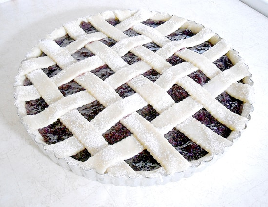 Easy, Cherry, Tart, Easy Cherry Tart, Lattice Crust, Homemade pie crust