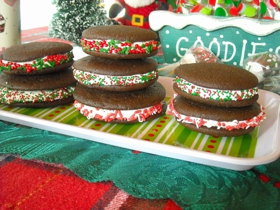 Christmas BCookies, Christmas Whoopie Pies, Homemade Holiday Recipes,