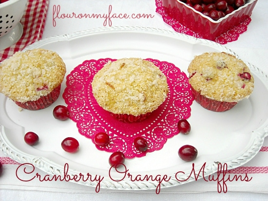 Valentine Day Cranberry Orange  Muffins