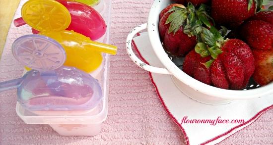 Strawberry Vanilla Orange Yogurt Ice Pops