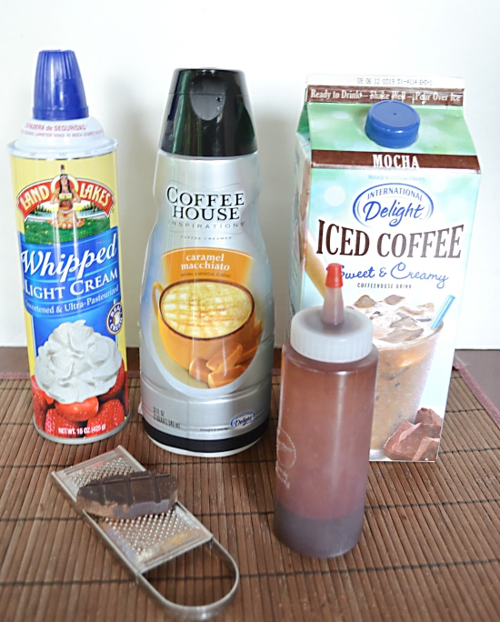 Ingredients needed to make International Delight Mocha Macchiato Shooters