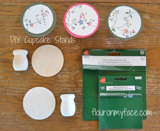DIY Cupcake Pedestals