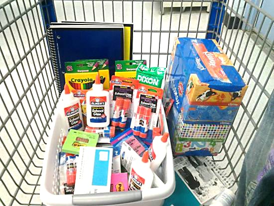 Shopping for Back to School Supplies for Elmer's Bag It Forward