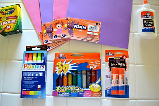 Back to School Craft with Elmer's #momsguide #CBias - Flour