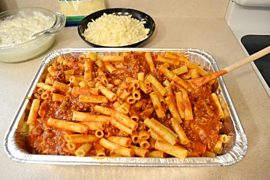 Baked Ziti add sauce
