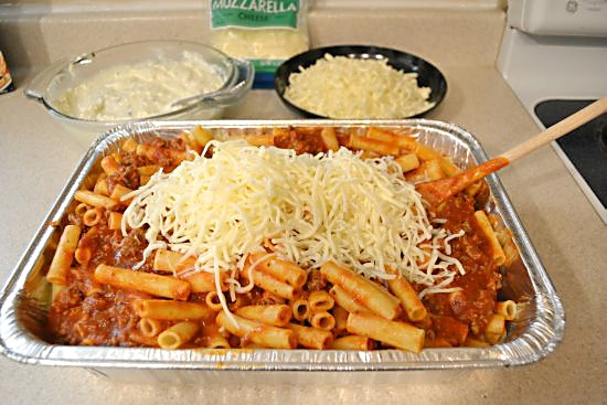 Baked Ziti add mozzarella
