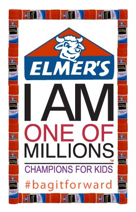 Elmer's Champions For Kids Bag It Forward Simple Service Project.