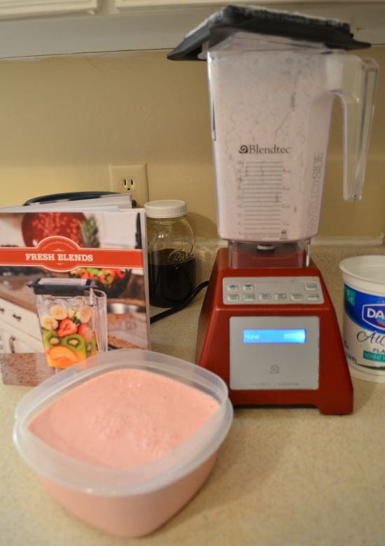 Frozen Yogurt in the Blendtec Blender