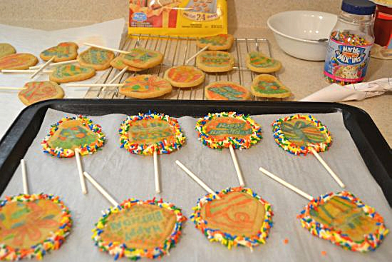 Nestle Birthday Cookie Pops decorated