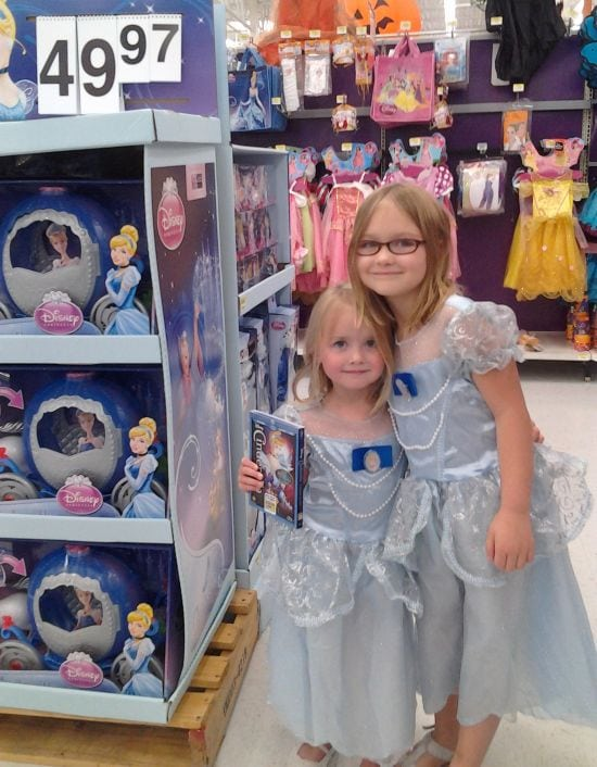 Hailey Emma Walmart buying Cinderella Movie
