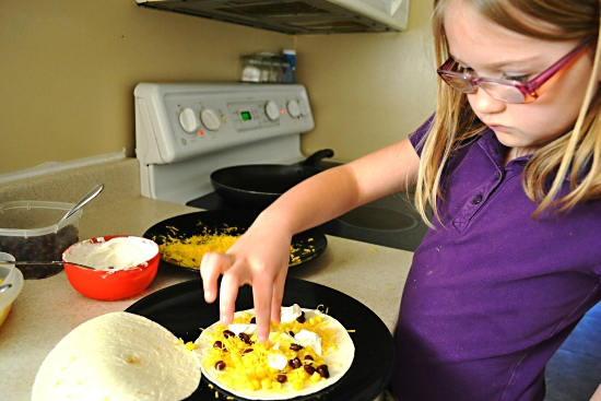 #VeggieKids Corn and Black Bean Quesadilla