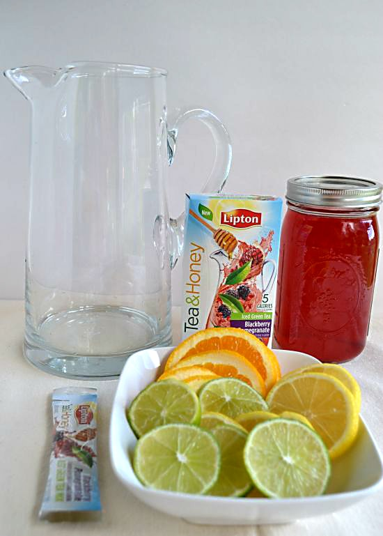 Lipton Tea and Honey Pitcher Packets are great to make a Mocktail Sangria