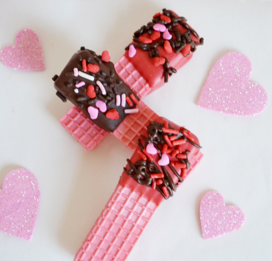Valentineu0027s Day Chocolate Dipped Wafer Cookies Easy DIY For The Kids