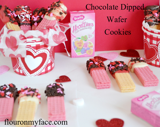 Valentine's DayChocolate Dipped Wafer Cookies