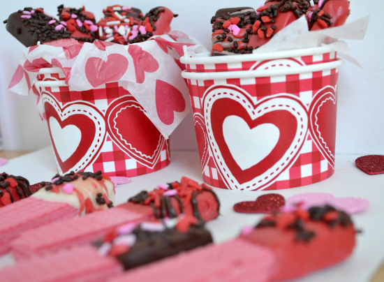 Kids Treats, Valentines Day, Chocolate, Dipped, Cookies, Wafer
