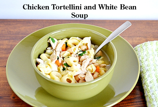 Tortellini Chicken and White Bean Soup #SundaySupper | Flour On My Face