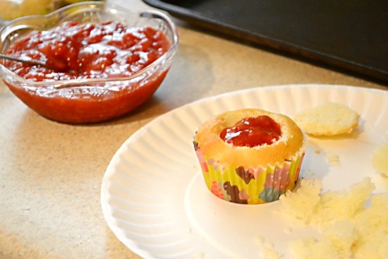 cupcake filling, strawberry