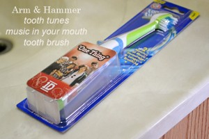 Get the Kids Brushing with Arm and Hammer #ToothTunes1D Toothbrush #spon | Flour On My Face