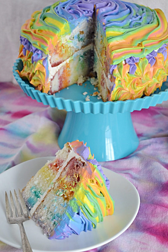 Rainbow, Jello. Poke, Cake, Birthday Party Ideas, Rainbow Cake, Rainbow Cakes