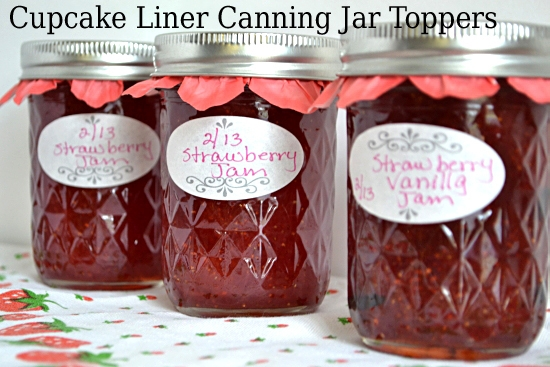 Quick and Easy DIY Spring Canning Jar Toppers using Cupcake Liners | Flour On My Face