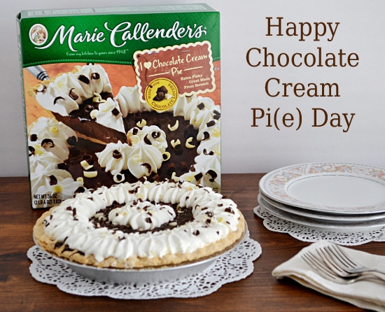 Celebrate National Pie Day with Marie Callender's Chocolate Cream Pie #MCPiDay #spon | Flour On My Face