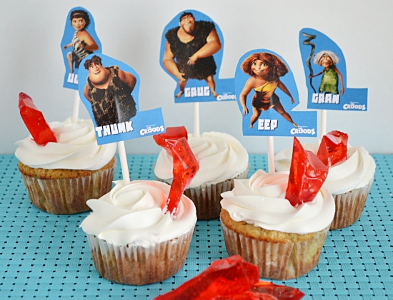 Cupcake decorating, The Croods Movie
