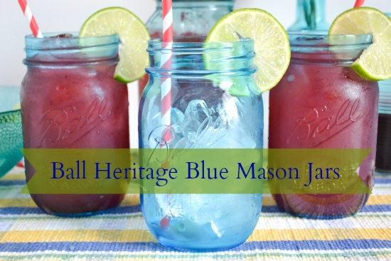 Cherry Limeade,  Recipe, Ball Heritage Jars, True Blue Jars, Summer D