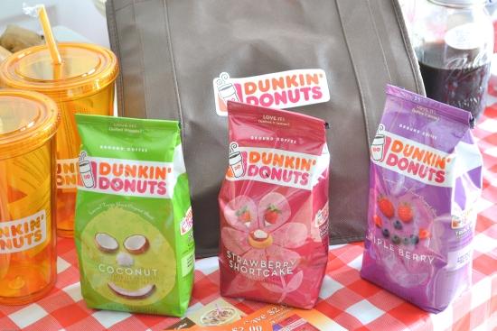Dunkin Donut Coffee, seasonal flavors, iced coffee, party