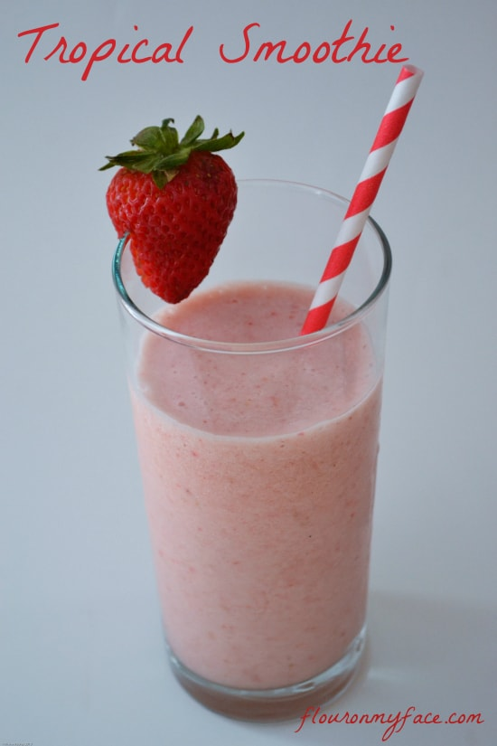 tropical smoothie recipe, dairy free smoothie, coconut milk,