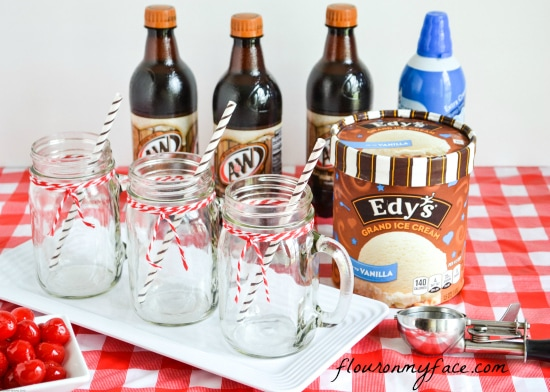 A&W Root Beer, Edys Ice Cream, root beer floats, ice cream, root beer, summer treats