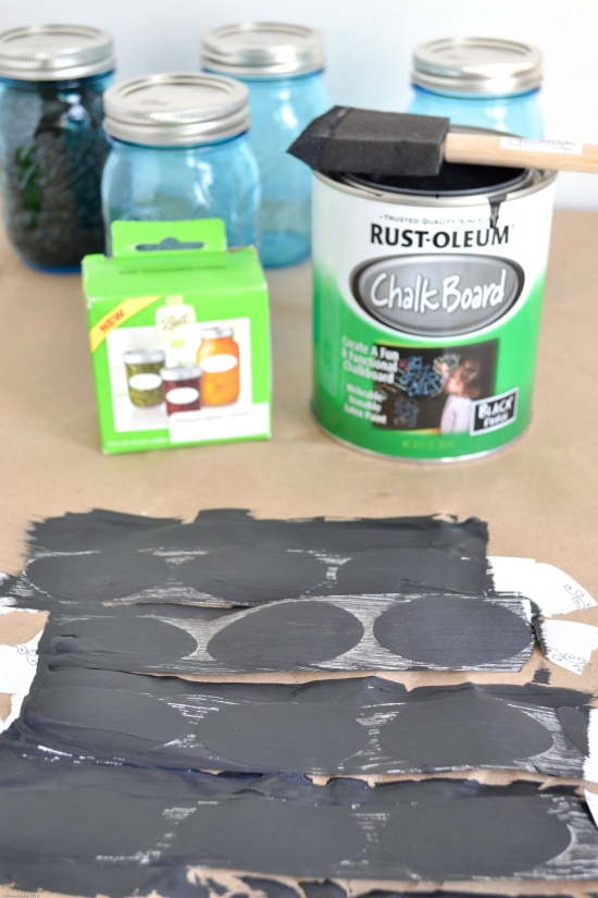 chalkboard labels, DIY chalk labels