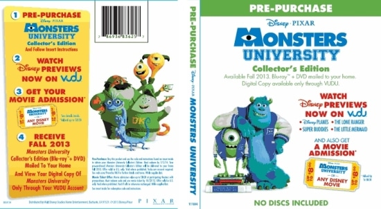 Disney, Movies, Monster University, PreOrder