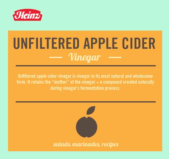 heinz, apple cider vinegar, unfiltered apple cider vinegar, vinegar mother