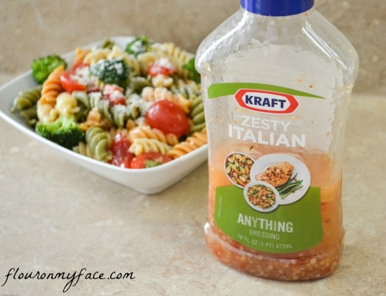 kraft, zesty italian dressing, the zesty guy, pasta salad, garden pasta salad