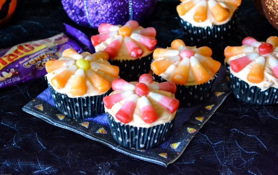 Halloween Cupcake Decorations With Candy Corn Starburst Candy Corn Halloween