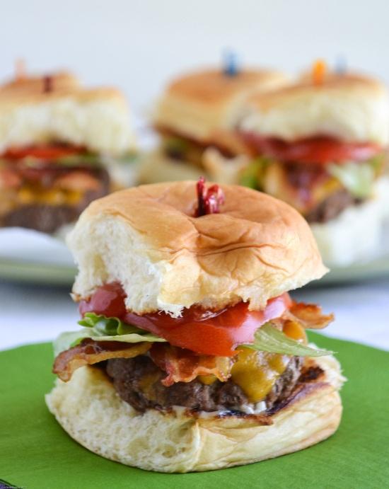 Stuffed Bacon Cheeseburger Slider Recipe