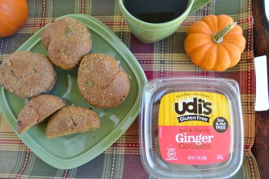 Udi's, Gluten Free, Pumpkin Muffins, Ginger Cookies, Gluten Free Desserts
