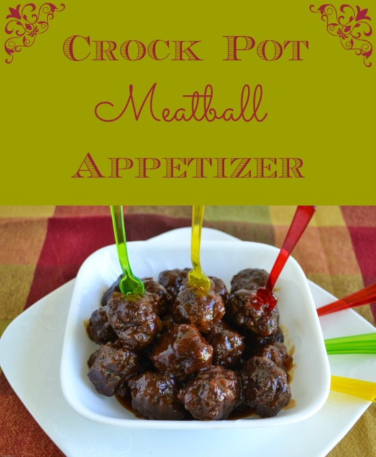 Crock pot meatball appetizer flour on my face for Meatball appetizer recipe crockpot