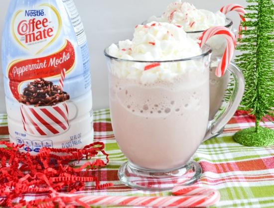 Peppermint Mocha Frozen Hot Chocolate Recipe