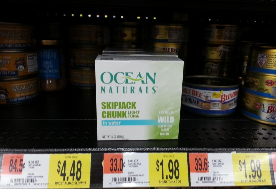 walmart. ocean naturals, premium tuna, canned tuna, healthy lunch