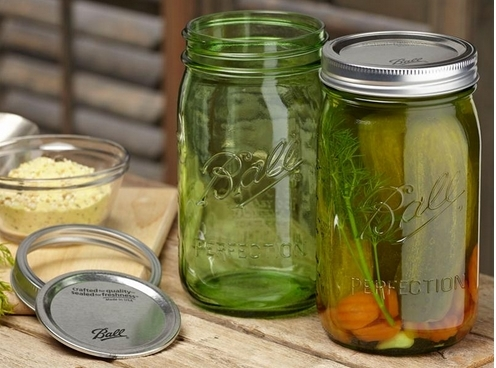 Ball Heritage Green Jars,