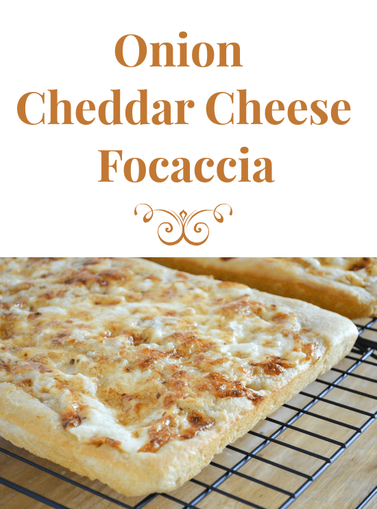 onion, cheddar cheese, focaccia, appetizer, recipe
