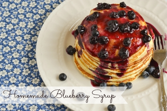 Buttermilk Pancakes with Homemade Blueberry Syrup, Highbush Blueberry Counsel, healthy fruit, homemade syrup