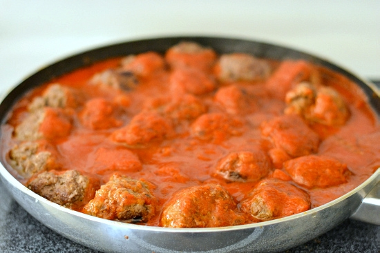 homemade meatballs, baked spaghetti recipe, baked spaghetti with meatballs, pasta recipe, family recipes, recipes to feed a crowd